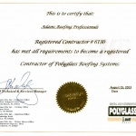 Contractor of Polyglass Roofing Systems