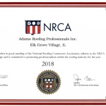 National Roofing Contractors Association Member Certificate