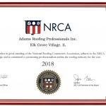 National Roofing Contractors Association Member Certificate